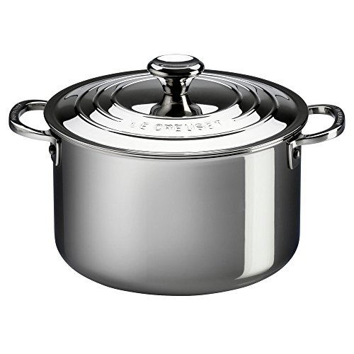 LE CREUSET Le Creuset-3-ply Multilayer Material Plus fleshpots, 20 cm, 18-10 Steel, Stainless, 4