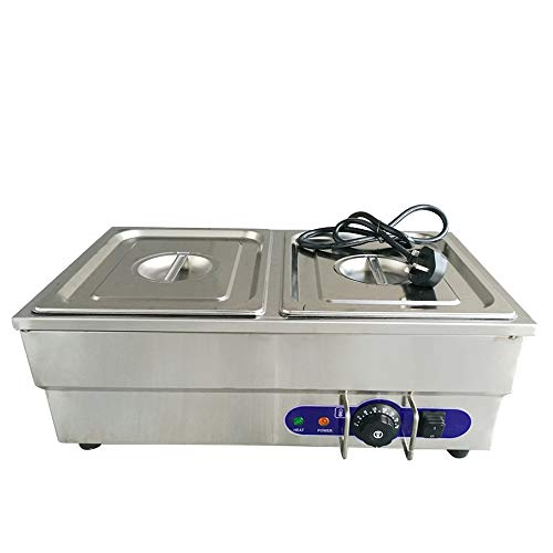 Bain Marie Buffet Food Warmer Electric Wet Well Catering Stainless Steel Commercial 1.5kw 1/2*2 Pan