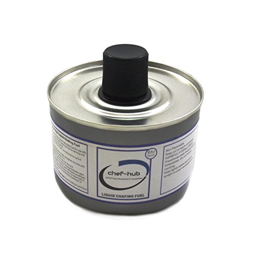 Chef-Hub, 48 Tin X Chafing Fuel Liquid Gel, 6 Hour Burn Time, Ideal for Weddings, Banquets, Buffets, Hotels