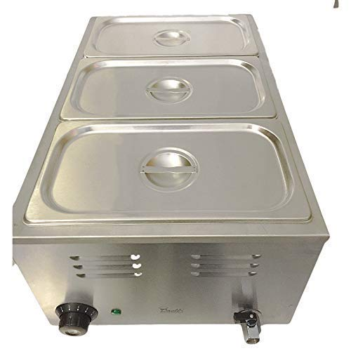 Commercial Bain Marie, 3 Pots, Electric, Sauce or Food, Warmer, Wet Well Baine, Bains, Bay Marie & Gastro Pans
