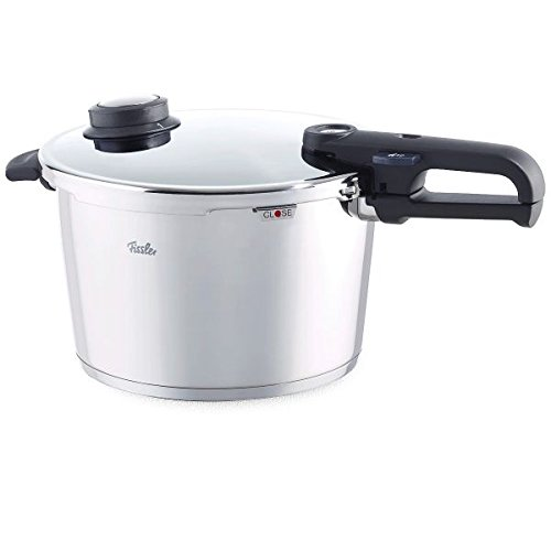 Fissler Pressure Cooker with Steamer Insert and Tripod, Suitable for All Hob Types Including Induction, 18/10 Stainless Steel, Capacity: 8.0 L, Diameter: 26 cm, Vitavit Premium