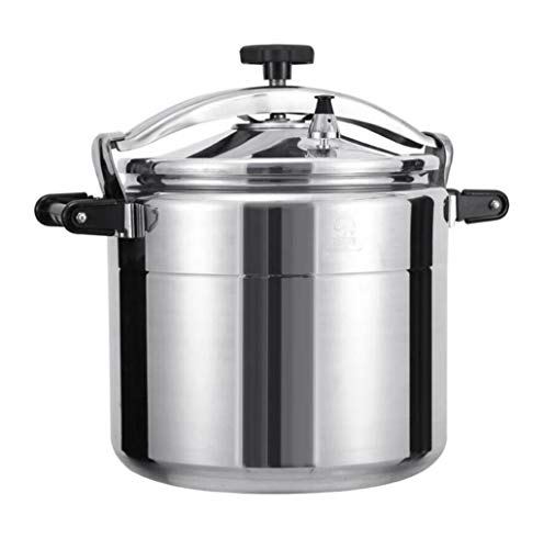 Pressure cooker commercial aluminum alloy pressure cooker home hotel canteen school large capacity thickening pressure cooker can be used in kitchen hotel restaurant ( Color : Silver , Size : 25L )