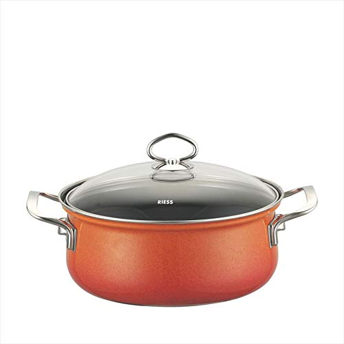 Riess 0657-034 Nouvelle-Corall Casserole with Glass Lid 20 cm, Diameter-/2 Litre Maroon