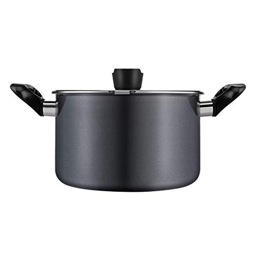 XuYuanjiaShop Household Non-stick Soup Pot Italian Noodle Pot Multi-purpose Cookware Soup Porridge with Drain Cover