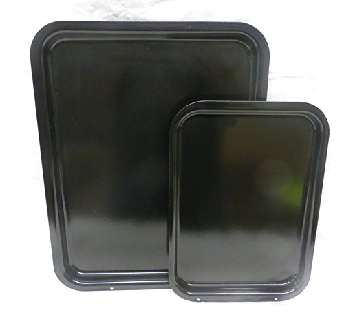 2 Piece AGA Safe British Made Heavy Gauge Vitreous Enamel Steel Baking/Roasting Set. to Fit The AGA.