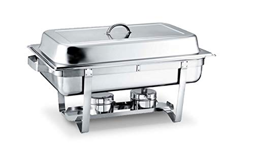 9L Stainless Steel Double Pan Rectangle OBlong Portable Cover Chafing Buffet Catering Dish