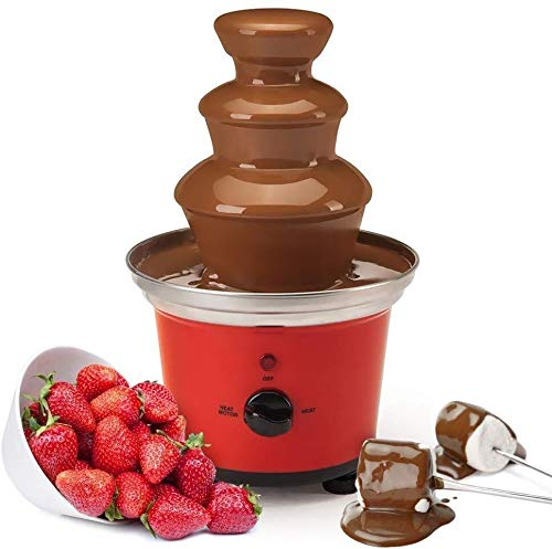 ATM Global Gourmet Chocolate Fountain Mini Fondue Set With Party Serving Tray Included | Electric 3-Tier Machine with Hot Melting Pot Base | Keep Warm Function (Size : Large)