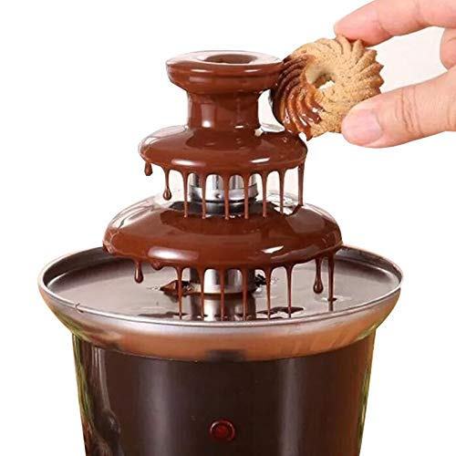 ATM Tiers Chocolate Fountains Mini Stainless Steel Chocolate Melt Heating Fondue Waterfall Machine Wedding Birthday Party