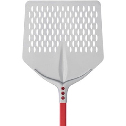 Cerutti Stainless Pizza Shovel Square Perforated Handle 1.5 mt Anodised Aluminium Made in Italy 36x36/ h. 150