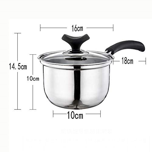 CZWYF Stainless Saucepan Pot Mini Milk Pot Non-stick Multi-function Household Induction Cooker Mini Stockpot (Size : 16cm)