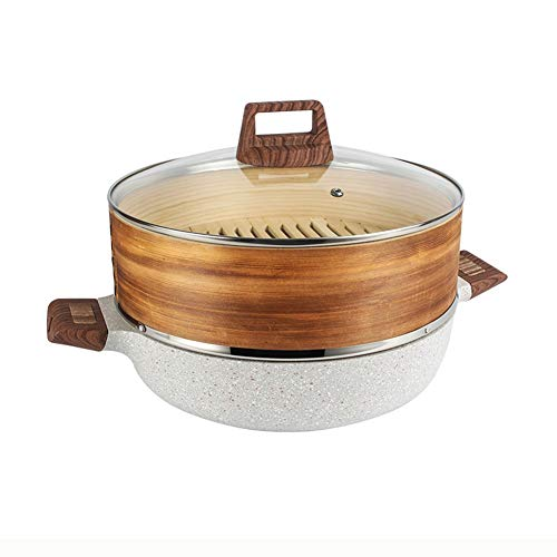 CZWYF Stockpot Household Aluminum Pot Stew Pot Cooker Special Pot Band Steamer (Size : 20cm)