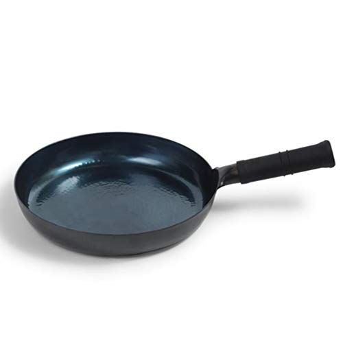 DYHOZZ 28cm, 30cm Pan Hand-in-one Thickened Uncoated Iron Frying Pan Omelette Pan Steak Pancake Pot (Size : 30cm)