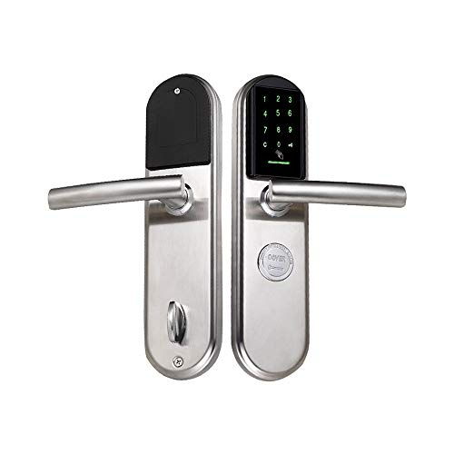 HNaGRDMMP Digital Security Smart Lever door Locks, RFID Card, Remote Control for Keyless Entry, Metal Keys Also Included, Ideal Digital Lock for Home, Office, Rentals and Hotels
