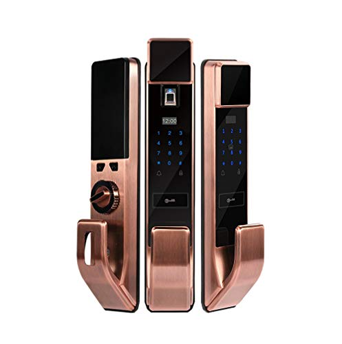 HNaGRDMMP Fingerprint and Touchscreen Keyless Smart Lever Door Lock | 6-in-1 Keyless Entry | Secure Finger ID | Anti-peep Code | Premium Construction Material | Match Home Aesthetics