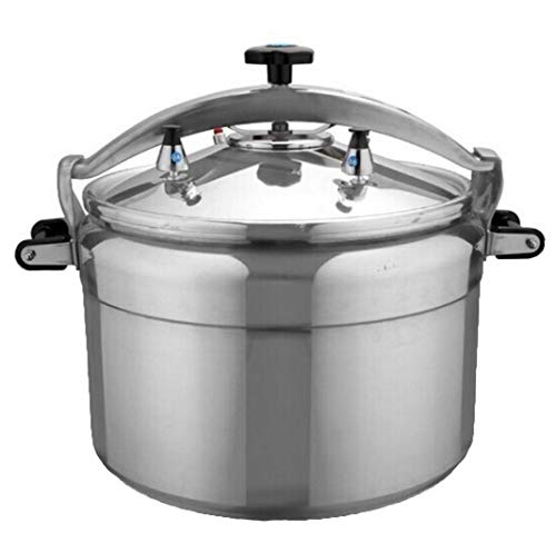 Household Pressure Cooker Rice Cooker, Large Capacity Available Multi-Cook Slow Cooker Steamer and Wok Soup Pot, Induction Base for Home Restaurant Hotel 3L-80L (Color : Silver, Size : 5L)