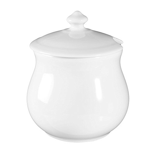 Jam pot with cover 1559 0,75 l Buffet-Gourmet white uni 00006 by Seltmann Weiden