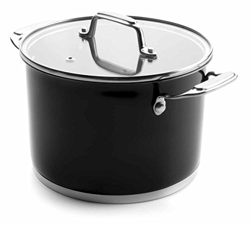 Lacor Stockpot with Glass Lid, Stainless Steel, Black, 28 cm