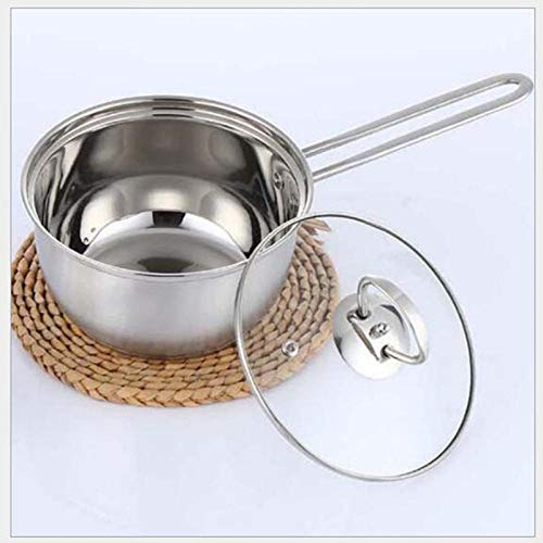Milk Pans Saucepans 304 Milk pan Single Handle Stainless Steel Cooker Common fire with a Small Pot of Milk Noodles