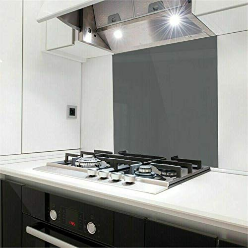 Nidda Colour Grey Toughened Glass Heat Resistant Splashback - Buy Splash back for kitchen (60cm x 70cm)