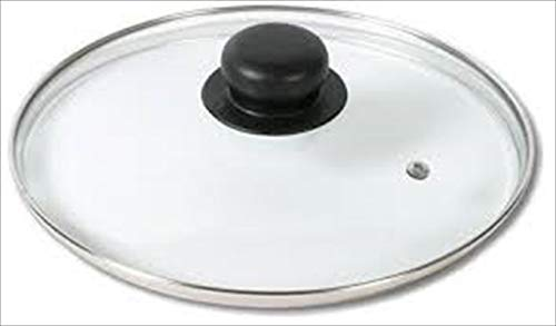 Riess Special Pans Glass Lid Flat for Panamera/Cortina, Diameter-22 cm White