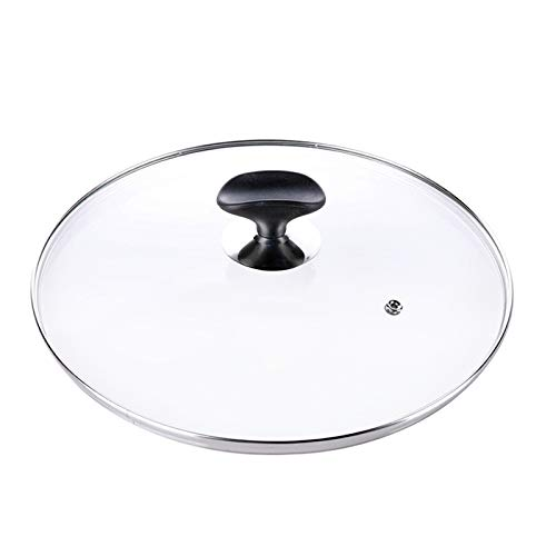 SLXTDGMZ Universal kitchen lid tempered glass lid for pan cookware pot diameter 26CM, with button kitchen cooking accessories