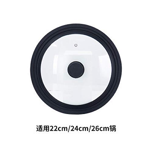 SLXTDGMZ Universal silicone cover anti-overflow cup lid high temperature anti-fall cover for 22, 24, 26cm pot