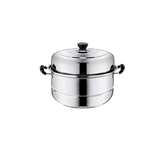 SMXGF Steamer, 2 Layers, 3 Layers, 4 Layers, Stainless Steel Steamer, Extra Thick Thick, Induction Cooker Universal Pot Cookware Steamer 28cm Silver Kitchen supplies