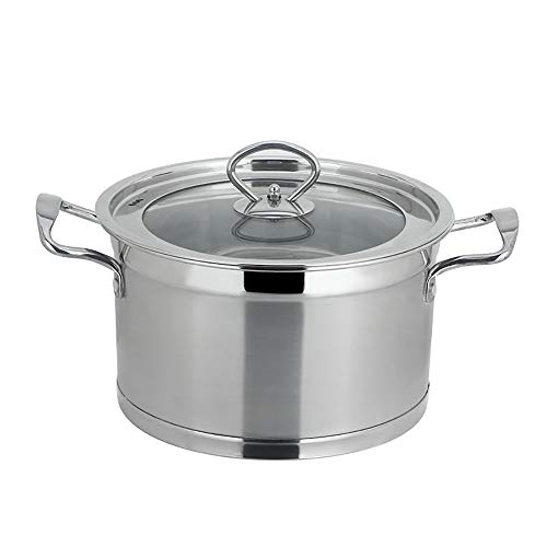 Stainless Steel Steamer Pot, Steamers for Cooking Stainless Steel Vegetable Steamers Basket Multi-Functional Thickening Non-Magnetic Double Bottom 18-26cm-22cm