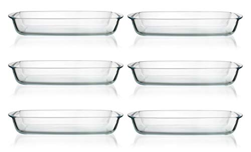 Thomas So Clear - Set of 6 Glass Rectangular Roasters - 35x22cm