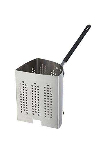 Winco APS-INS, Quarter-Size Stainless Steel Inset For 20-Quart Pasta Cooker, 0.7 mm Thick Pasta Strainer