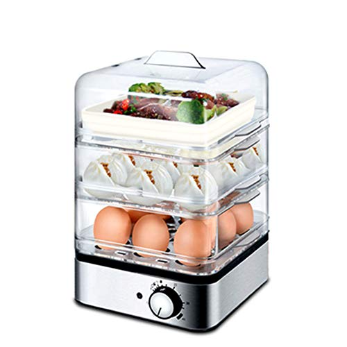 Egg Steamer, Three-layer Automatic Power-off Oversized Egg Cooker, Multifunctional Stainless Steel Egg Steamer.