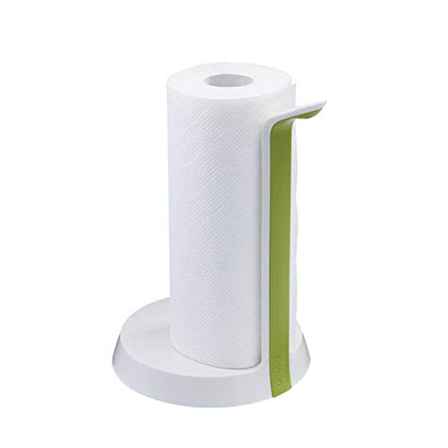 GRXDJ Paper Towel Holder, Plastic And Steel Material, Manual Rotating Surface Smooth And Comfortable, Suitable For Kitchen And Bathroom