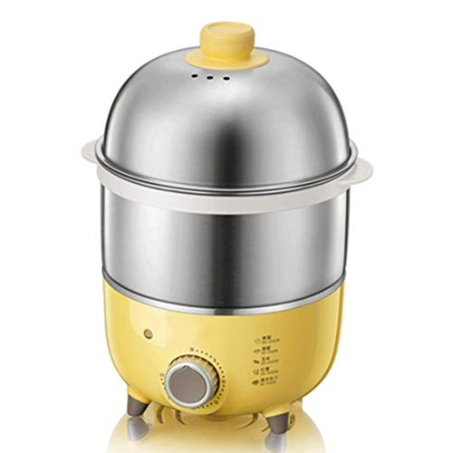 Little Bear Egg Cooker, Double-layer Egg Steamer, Automatic Power-off Mini Egg Scrambler, Regular Household Small Breakfast Artifact.