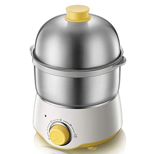 Stainless Steel Double-layer Egg Cooker, Large Capacity, Egg Cooker, Automatic Power Off, 7-14 Kinds Of Egg Cooker, 360w, White/Stainless Steel