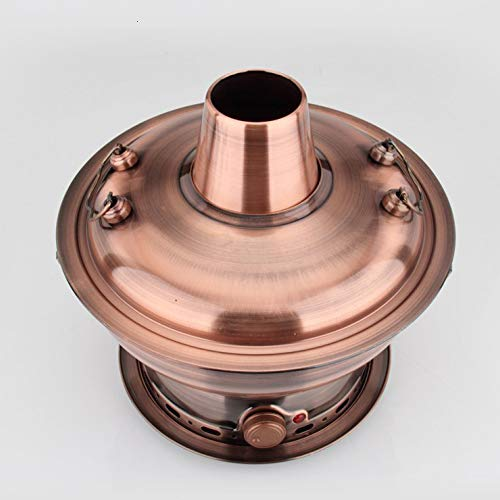 ZATPFSDG 36cm Imitation Copper Stainless Steel Thickened Electric Carbon Dual-Use Split Hot Pot