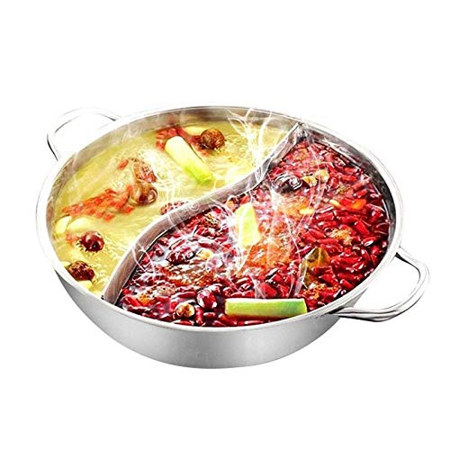 ZATPFSDG 28 cm stainless steel pot cooker hot pot suitable for home hot pot cooking