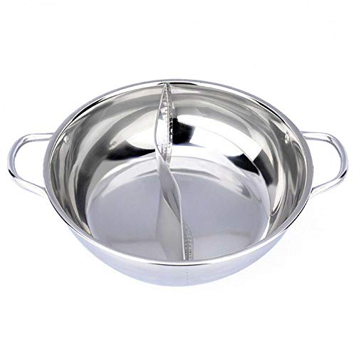 ZATPFSDG Hot pot double split stainless steel cooking mold home kitchen