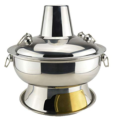 ZATPFSDG Household hot pot stainless steel charcoal pot picnic stove cooker