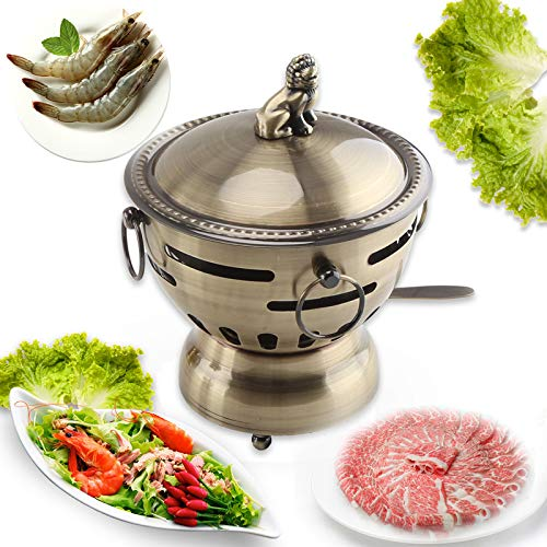 ZATPFSDG Small hot pot one person stainless steel mini stew pot home hot pot