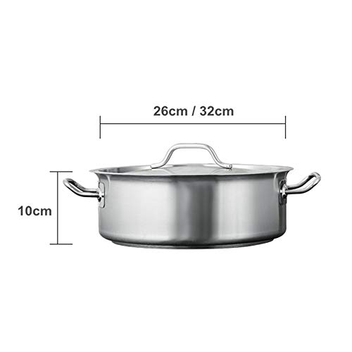 ZATPFSDG Stainless steel hot soup pot thickened and durable home 32 cm