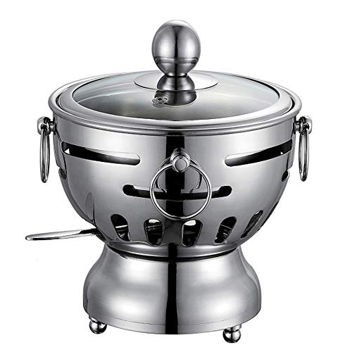 ZATPFSDG Stainless steel small hot pot buffet mini household single hot pot