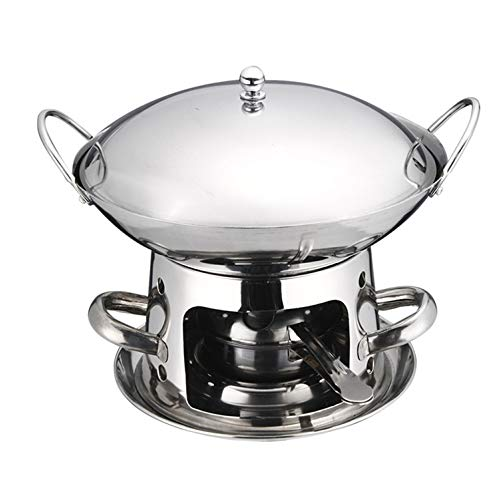 ZATPFSDG Thick stainless steel pot, small domestic hot pot, tableware