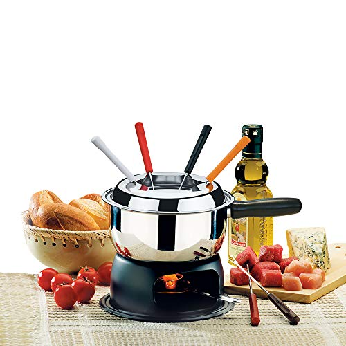 BRINOX 1246/116 Fondue Set-12 Pieces, Stainless Steel, Silver