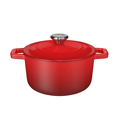 Casserole Dish Casserole Casserole Dish with Lid for Oven Pyrex Cast Iron Casserole Dishes with Lids,Cast Iron Enamel Household Saucepan Binaural Gas Stove/Induction Cooker Universal