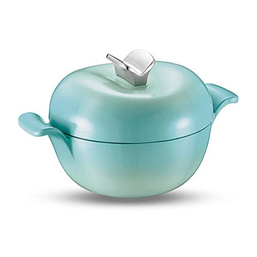Casserole Dish Cast Iron Casserole Casserole Dish with Lid for Oven Pyrex Casserole Dishes with Lids Casserole Set,Enameled Cast Iron Saucepan Gas Stove/Induction Cooker-Blue