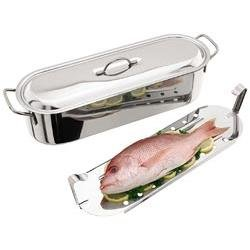 Judge Fish Poacher 60 cm, 13 L, Stainless Steel, Silver, 60cm, 13l